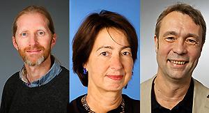 Jan Karlsson, Birgitta Evengård och Peter Sköld. Foto: Mattias Pettersson.