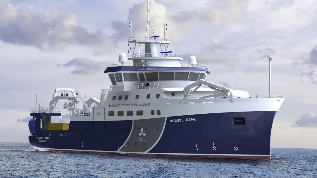 SLU:s nya forskningsfartyg blir 69 meter långt och fullt utrustat för fiske, bottenprovtagningar och oceanografiska (fysikaliska, kemiska, biologiska) undersökningar. Fartyget blir mycket flexibelt och kan ta ombord många typer av specialutrustning. Illustrationer: Skipsteknisk AS