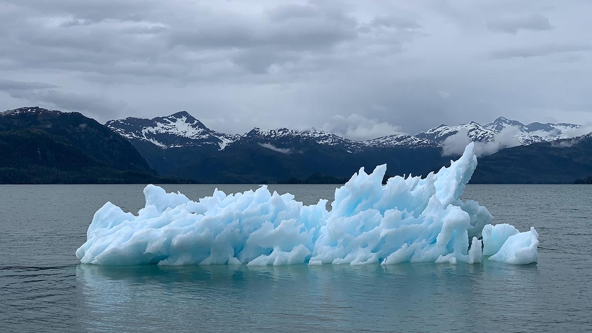 Ett isberg som smälter.