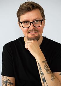 Gustav Källstrand, indendent på Nobelprismuseet.